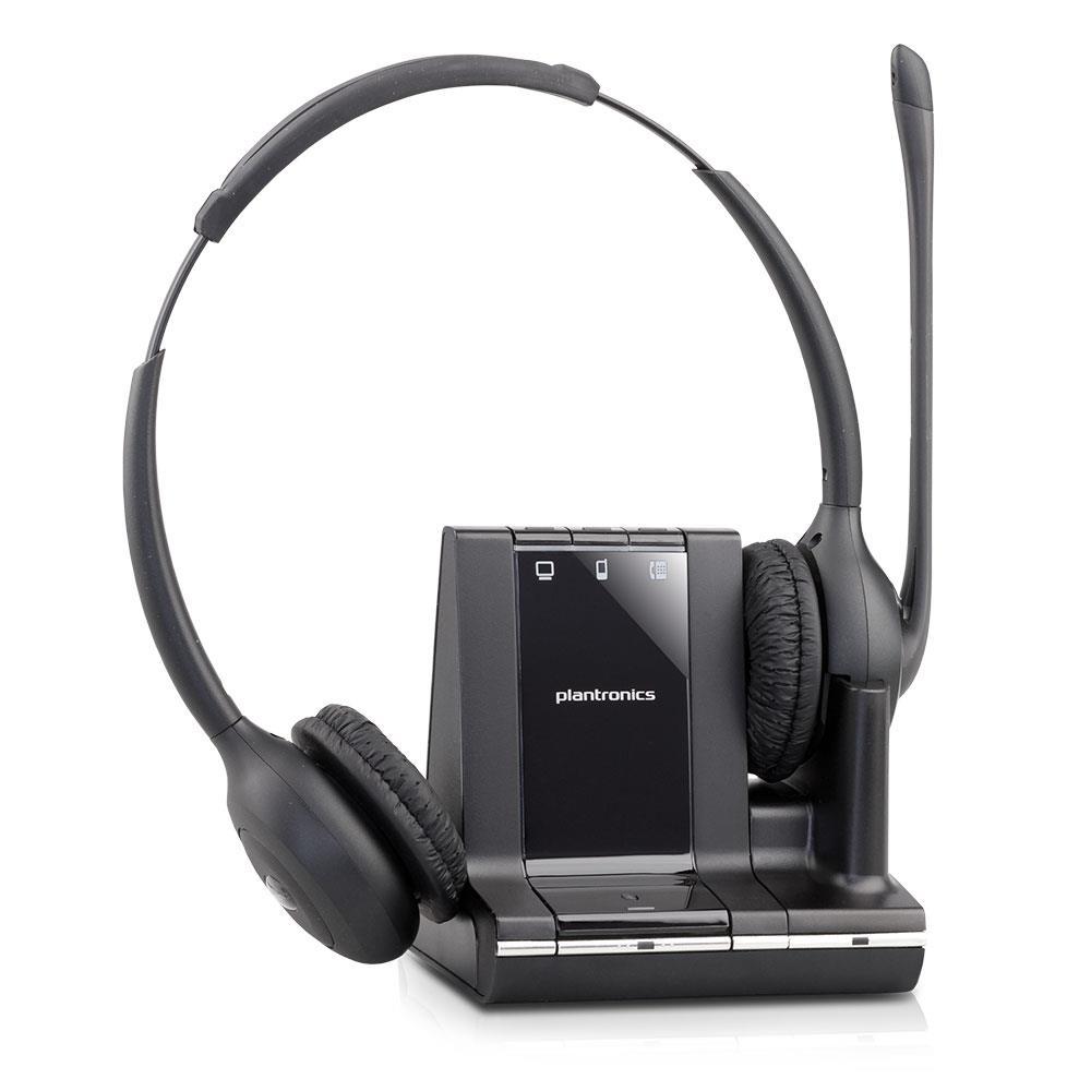 plantronics savi w720 dect headset kabellos 120m. Black Bedroom Furniture Sets. Home Design Ideas