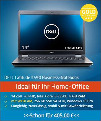 Gebrauchte Notebooks von Dell mit Windows 10 und Webcam für Home-Office günstig kaufen. Refurbished-IT mit Gewährleistung