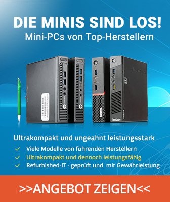 Gebrauchte Mini-PCs von HP, Fujitsu, Lenovo oder günstig kaufen. Refurbished-IT mit Garantie
