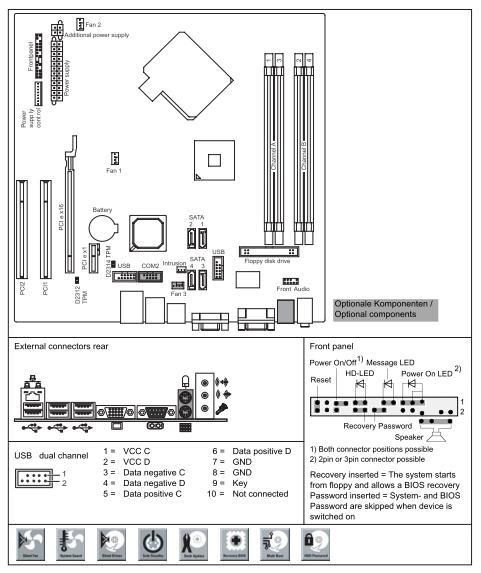 Fujitsu-Siemens D2312 Mainboard - 2
