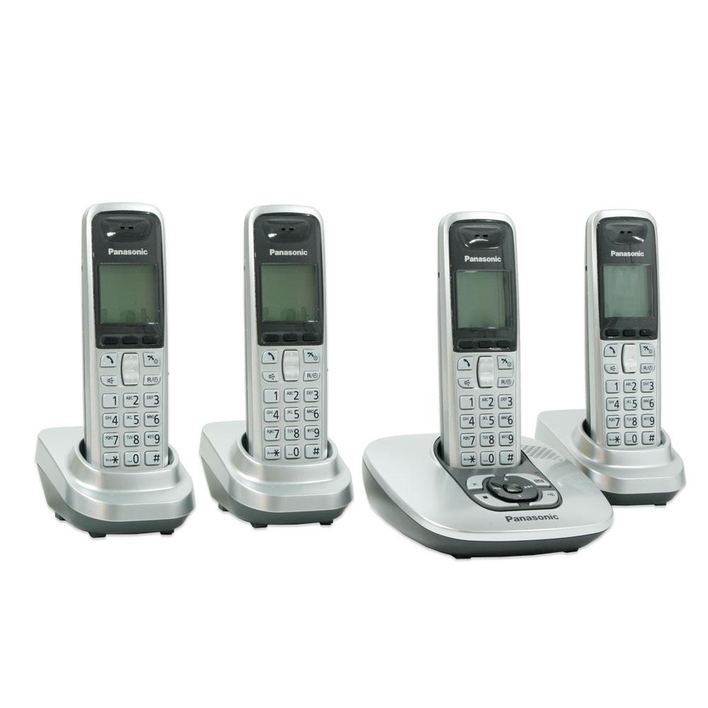 panasonic kx tg6424gs telefon set 4x telefonie. Black Bedroom Furniture Sets. Home Design Ideas