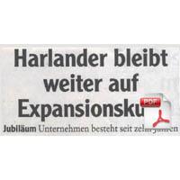 Beitragsbild: 02. April 2008 Harlander bleibt weiter auf Expansionskurs