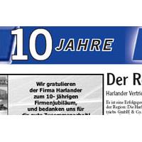 Beitragsbild: Harlander Vertriebs GmbH & Co. KG feiert erfolgreiches erstes Jahrzehnt