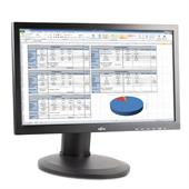 "Fujitsu Display B20T-7 LED 49,4cm (19,5"") TFT-Monitor (HD720 1600x900, 5ms, Pivot, DVI-D + VGA) Schw"