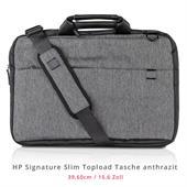 """HP 15.6"""" Signature Slim Topload Tasche (L6V68AA#ABB, Anthrazit, bis 39,6cm (15.6""""), 3 Fächer)"""