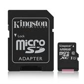 Kingston Canvas Select 128GB microSDXC Karte 80 MB/s. lesen, 10 MB/s. schreiben. UHS-I (U1)