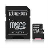 Kingston Canvas Select 64GB microSDXC Karte 80 MB/s. lesen, 10 MB/s. schreiben. UHS-I (U1)
