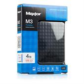 "Maxtor M3 Portable externe Festplatte 4TB USB 3.0 6,4cm (2,5"") Auto-Backup, Verschlüsselung"