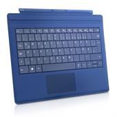 Microsoft Surface Type Cover 3 Tastatur (blau, Layout Deutsch, für Surface Pro 3) beleuchtet