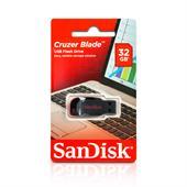 SanDisk Cruzer Blade USB Stick (32GB, USB 2.0) schwarz / rot