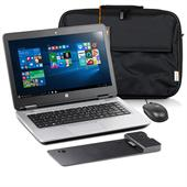 SPARPAKET HP 640 G2 + Docking + Netzteil+ Tasche + Maus + Win 10