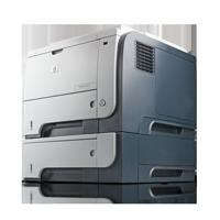 HP LaserJet P3015dn Laserdrucker ein Papierfach