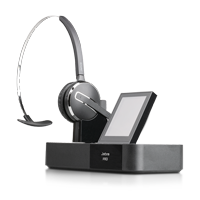 Jabra PRO 9470 Mono Wireless DECT Headset  inklusive Basisstation mit Touchdisplay