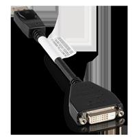 Lenovo 43N9160 DisplayPort auf DVI-D Adapter schwarz