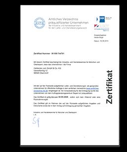 AVPQ Zertifikat - Harlander.com