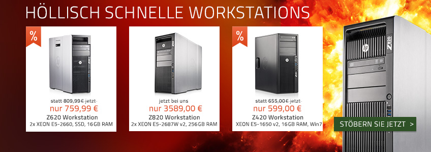 Workstations von HP mit teuflisch guter Ausstattung!