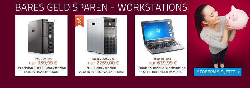 Jetzt bares Geld sparen! Günstige Workstations bei Harlander.com