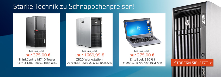 Starke Technik! HP Z820 Workstation jetzt günstig bei Harlander.com