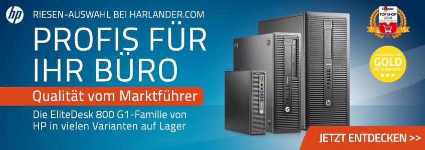 HP EliteDesk 800 G1-Familie von HP in allen Größen auf Lager
