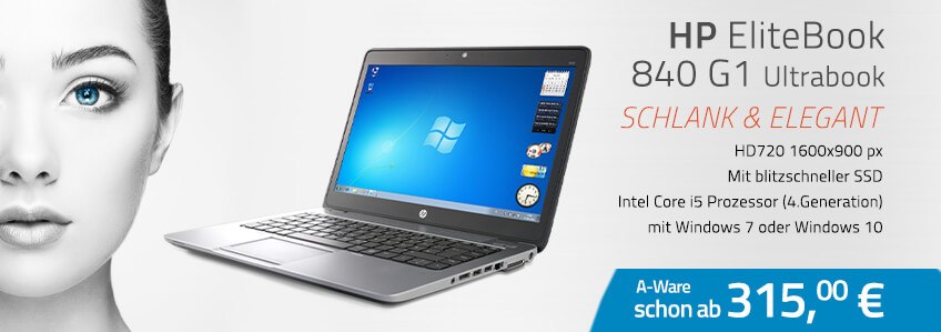 HP EliteBook 840 G1 Ultrabook gebraucht - schon ab 315,-EUR