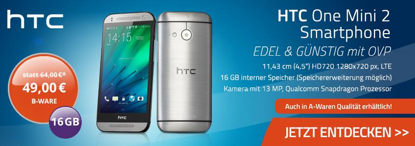 HTC One Mini 2 16GB gebrauchte B-WARE für nur 49,00 Euro!