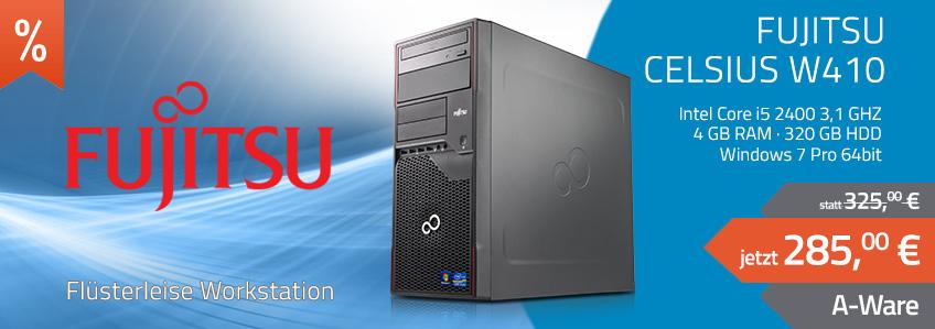 Fujitsu Celsius W410 Workstation (Core i5 3.1GHz, 4GB, 320GB, DVD, HD Graphics 2000) + Win 7