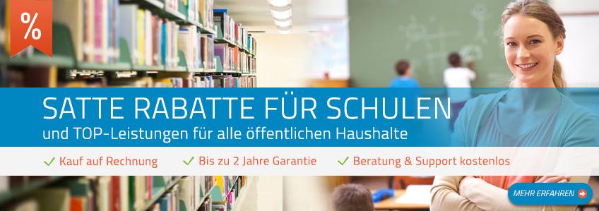 Satte Rabatte für Schulen & Behörden