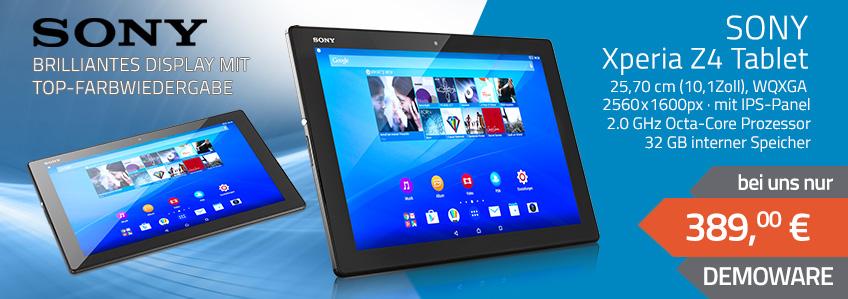 Sony Xperia Z4 Tablet DEMOWARE für 389,- EUR