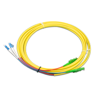 EFB Elektronik LWL Kabel Duplex E2000/LC 2x LC 2x E2000 Gelb