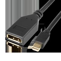 InLine 17150S Mini DisplayPort auf DisplayPort schwarz