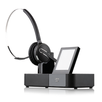 Jabra PRO 9470 Flex Mono Wireless DECT Headset  inklusive Basisstation mit Touchdisplay