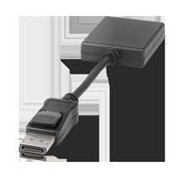 Markenkabel Displayport auf DVI-D schwarz