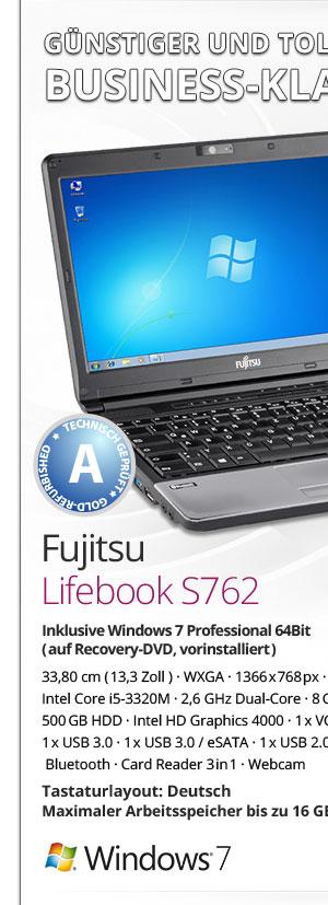 Fujitsu Lifebook S762 Bild1