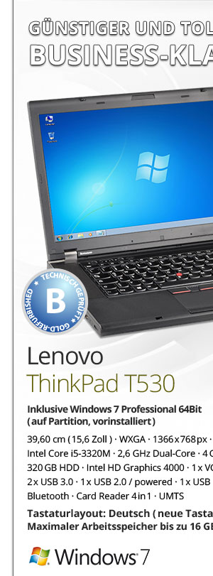 Lenovo ThinkPad T530 Bild1