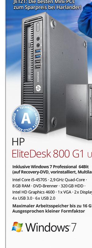 HP EliteDesk 800 G1 USDT Win7 gebraucht kaufen Bild1