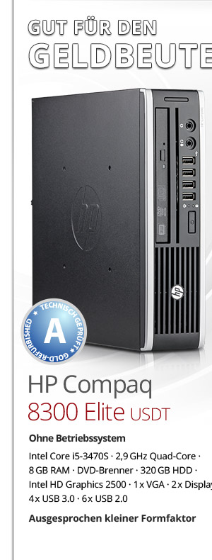 HP Compaq 8300 Elite USDT Mini PC gebraucht kaufen Bild1