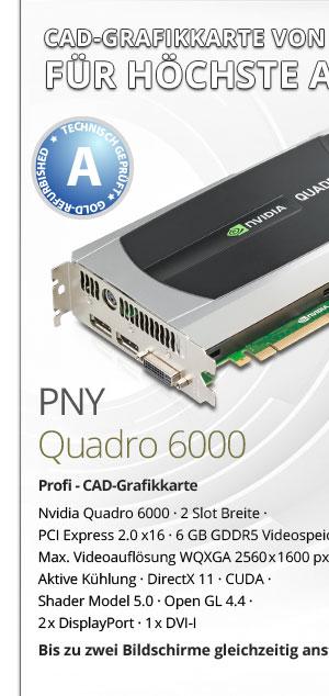 PNY Quadro 6000 CAD Grafikkarte gebraucht kaufen! Bild1