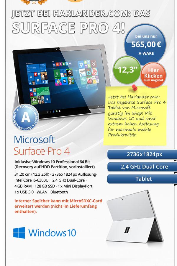 Microsoft Surface Pro 4 gebraucht kaufen