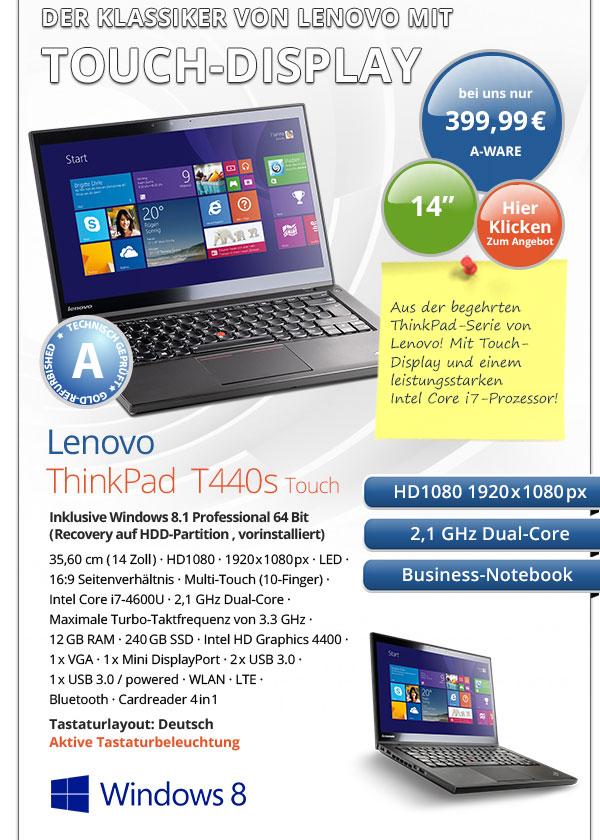 Lenovo ThinkPad T440s gebraucht kaufen