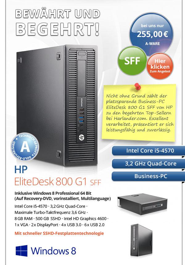 Business PC HP Elite Desk 800 G1 SFF gebraucht kaufen