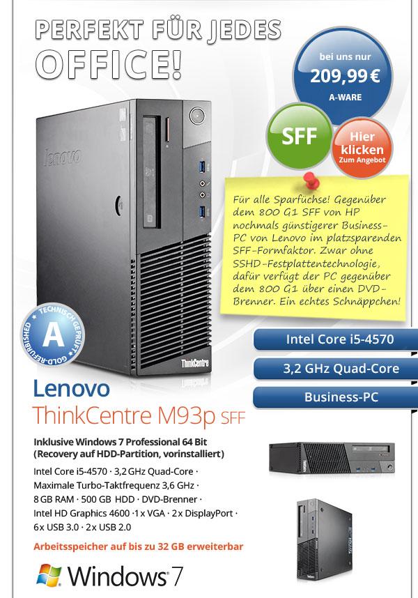 Business PC Lenovo ThinkCentre m93p SFF gebraucht kaufen