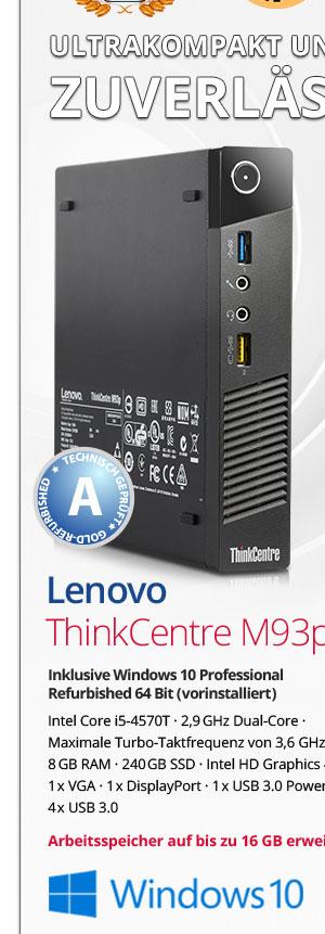 Bild von Lenovo Thinkcentre m93p Tiny