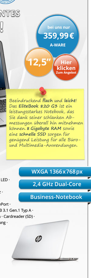Bild von HP EliteBook 820 G3