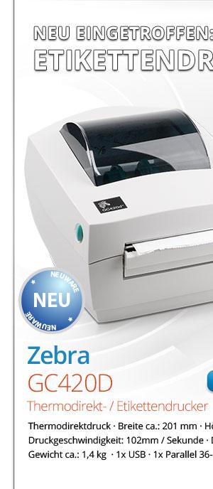 Bild von Zebra GC420D Etikettendrucker