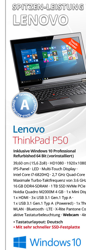 Bild von Lenovo Thinkpad P50