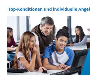 Rabatte für Schulen und Behörden