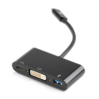 V7 USB-C Hub/Adapter USB Port Replikator V7UCDVI-HUB-BLK schwarz